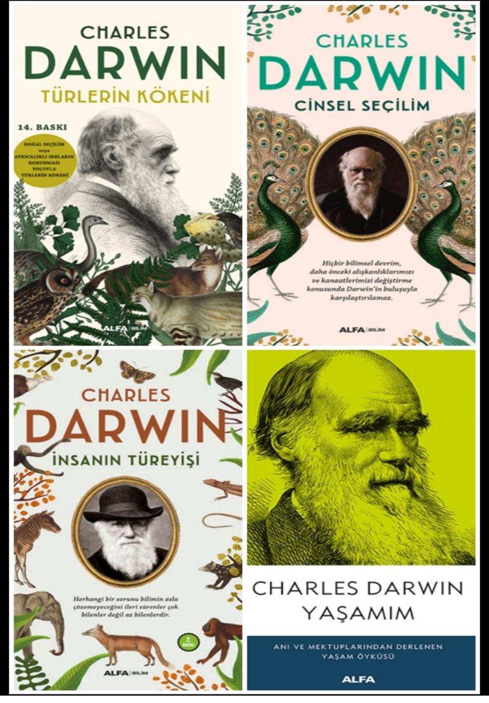 CHARLES DARWİN 4 KİTAP SET